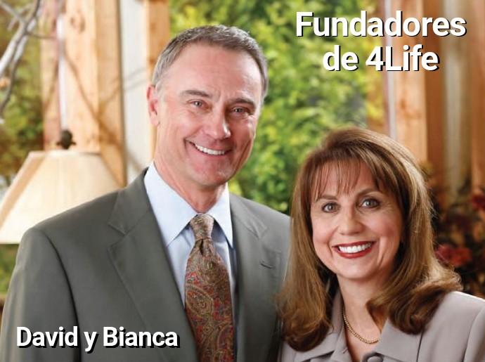 Fundadores 4Life David y Bianca Lisonbee